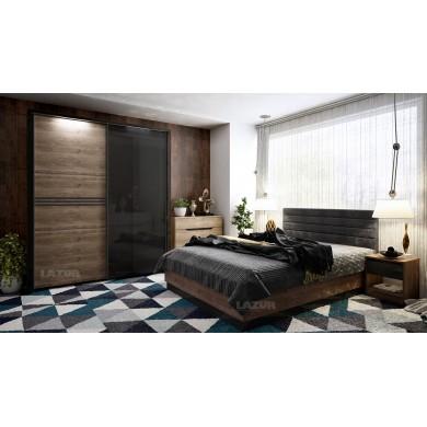 Легло за спалня Модерн с ракла и тапицирана табла