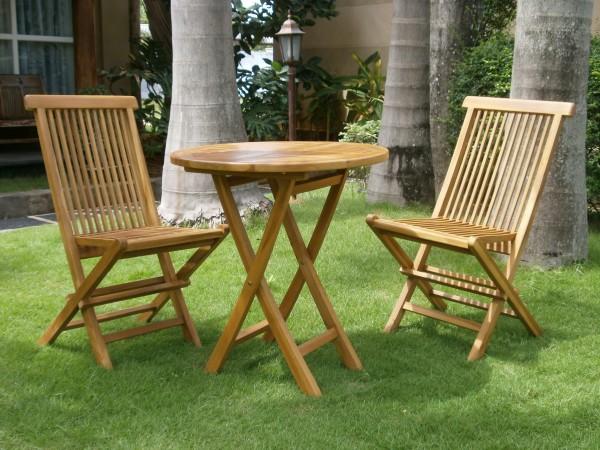 градински сгъваем стол от тиково дърво