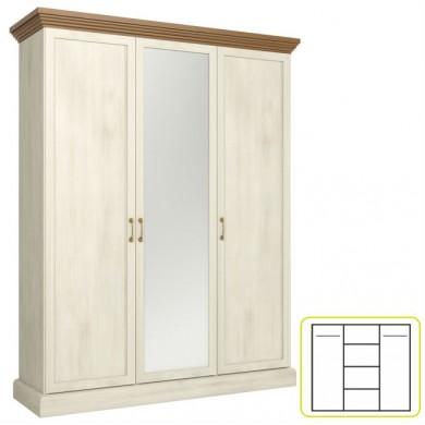 Трикрилен гардероб Роял