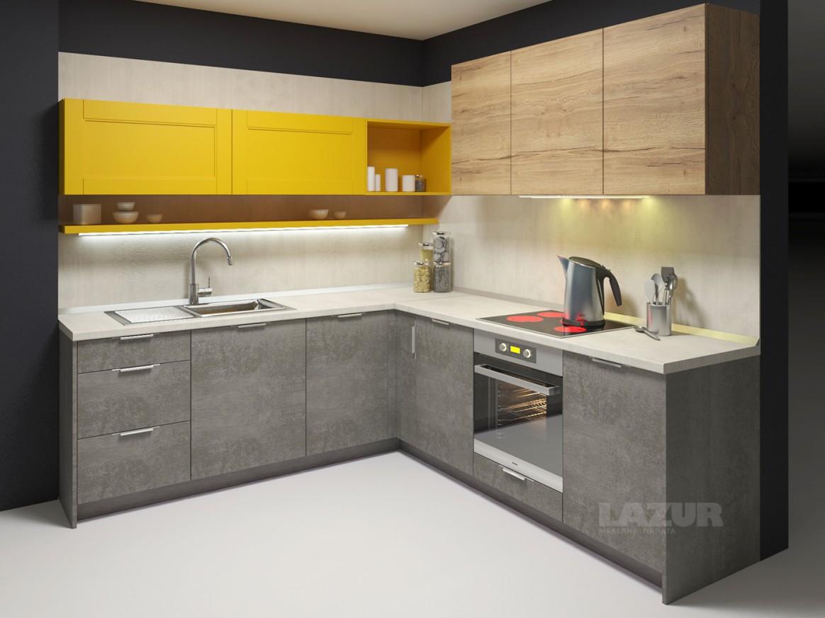 кухня серия Ламина в комбинация Дъблин