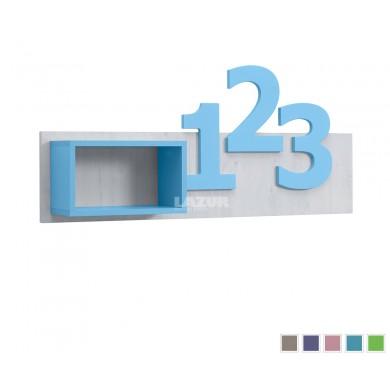полица с цифри за детска стая Нумеро