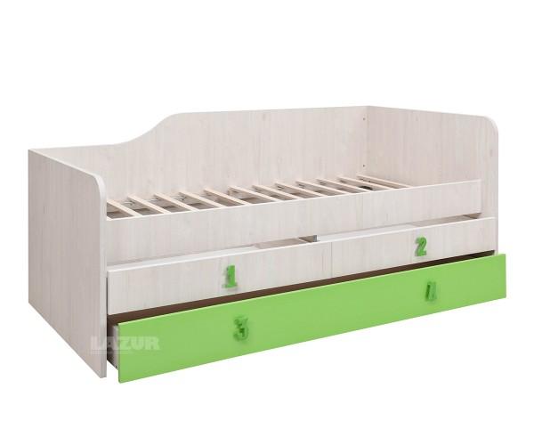 легло Нумеро за матрак 90/200 см с две чекмеджета
