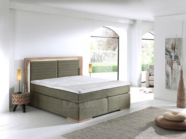 Тапицирано боксспринг легло Marcel за матрак 160/200 см с влючен топер