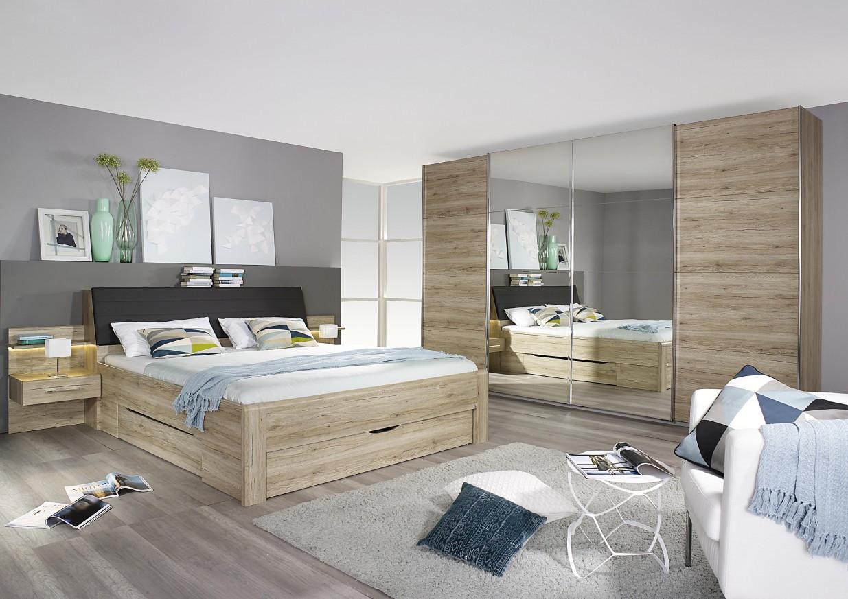Легло Бенсхайм с нощни шкафчета и чекмеджета