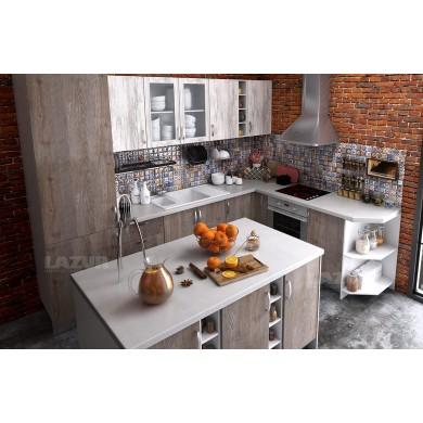 модулна кухня готова конфигурация бор сестола и дъб алатри