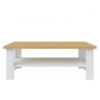 холна маса Верне в цвят бяло и дъб