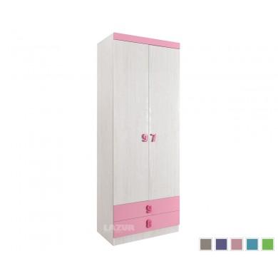 двукрилен гардероб с чекмеджета Нумеро