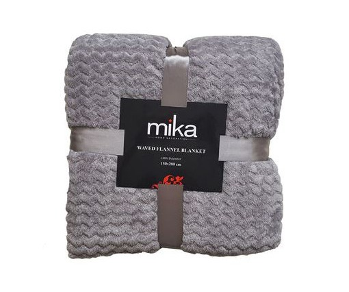 ОДЕАЛО MIKA WAVED FLANEL FLEECE GREY