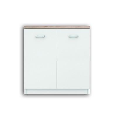 Нисък шкаф Топ микс с 2 врати в бяло и сонома