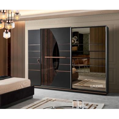 гардероб Сарос с плъзгащи врати и огледало