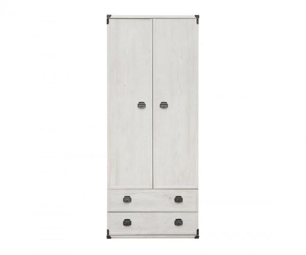 Двукрилен гардероб Индиана с две чекмеджета