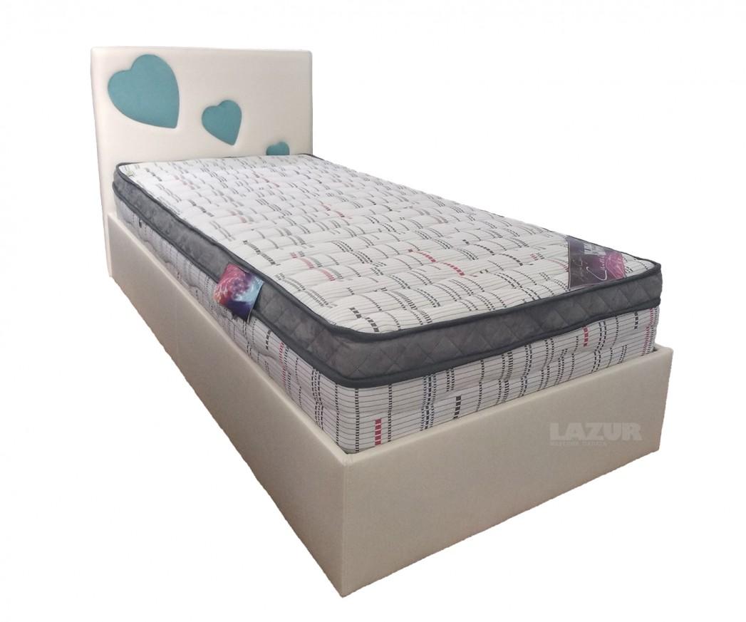 тапицирано легло Детски свят за матрак 90/200 см
