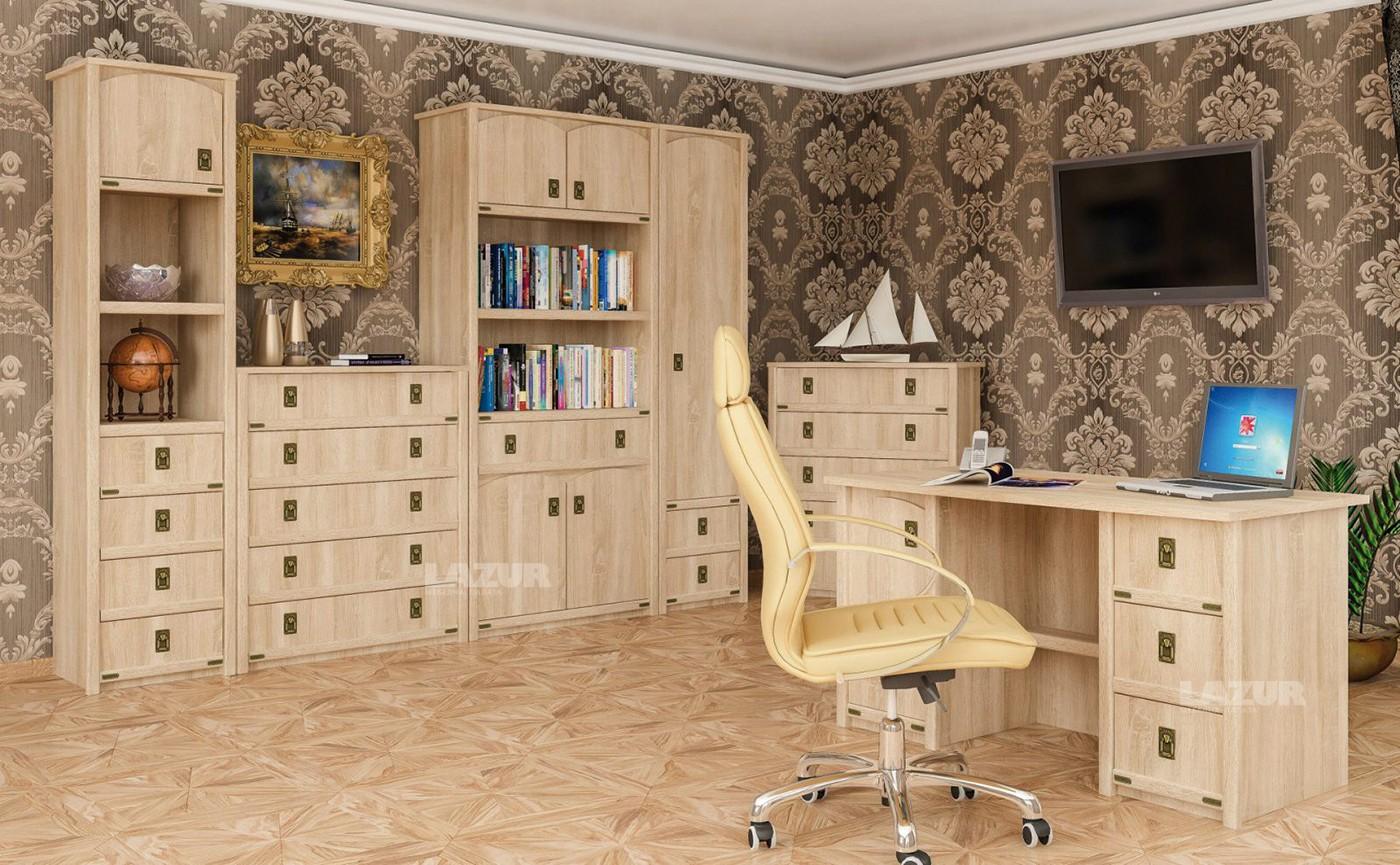 бюро Валенсия с 1 врата и 3 чекмеджета