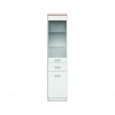 Единичен шкаф витрина Топ Микс в бяло