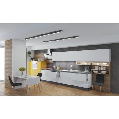 кухня по индивидуален проект серия Пастел гланц