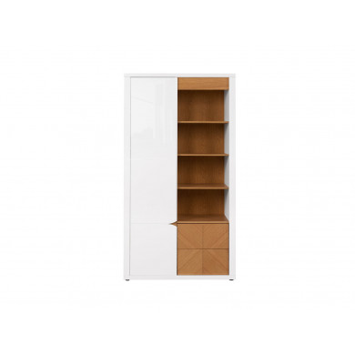 Висок шкаф Ровика с 1 врата и 2 чекмеджета