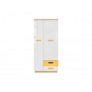 Двукрилен гардероб с две чекмеджета Вескер