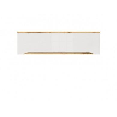стенен шкаф Нуис в бял гланц