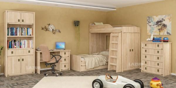 Единично легло Валенсия в цвят дъб сонома за матрак 90/200 см