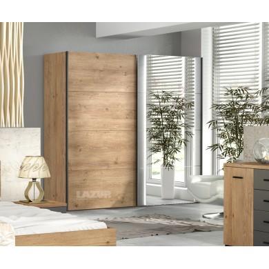 гардероб Юнивърс с две плъзгащи врати и огледало