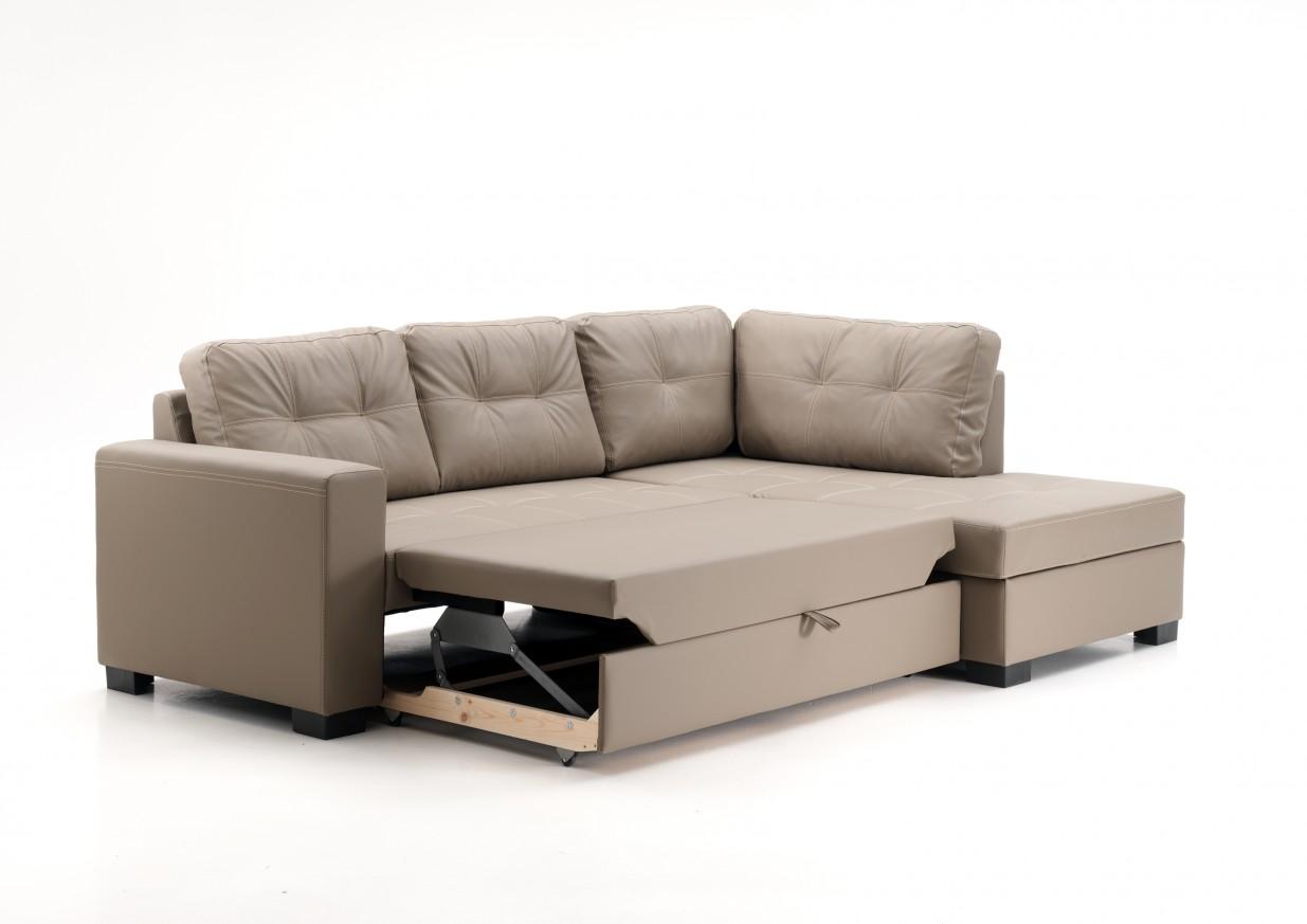 Ъглов диван Пума с функция сън и ракла
