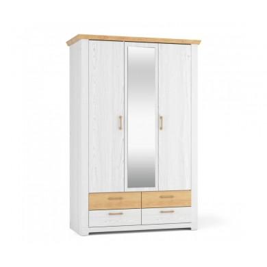 трикрилен гардероб Арсал с една огледална врата