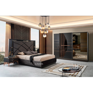 Луксозен комплект мебели за спалня Сарос