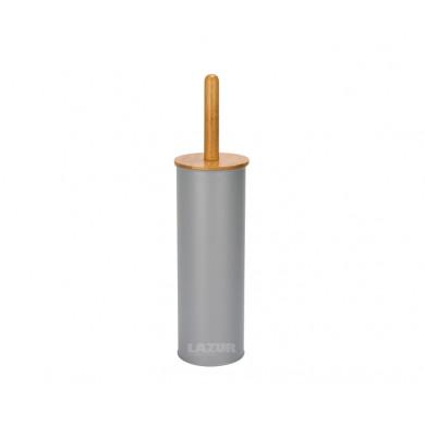 сива четка WC с бамбукова дръжка