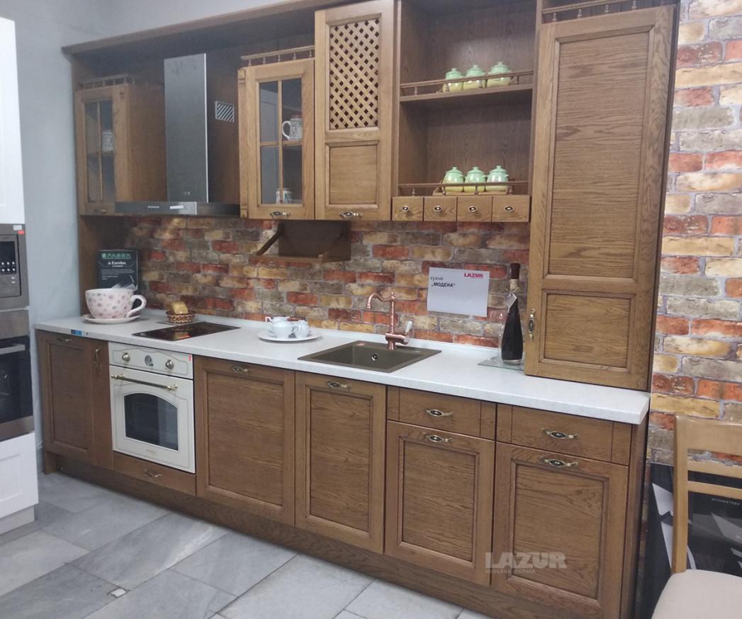 кухня масив по индивидуален проект Модена готова конфигурация