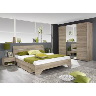 легло Фелбах с 2 броя нощни шкафчета