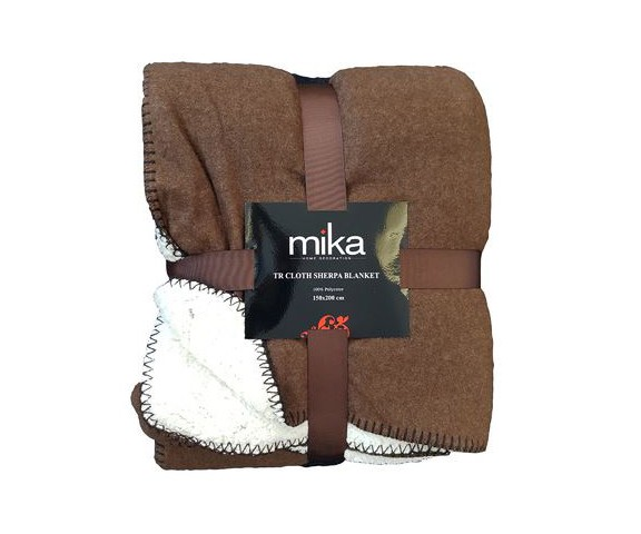 ОДЕАЛО MIKA CLOTH SHERPA D.BROWN