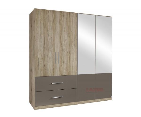 Гардероб Алвор с огледални врати и чекмеджета