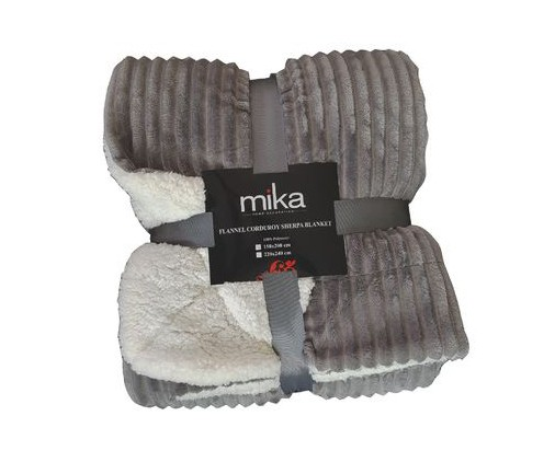 ОДЕАЛО MIKA FLANNEL SHERPA GREY 220/240 СМ