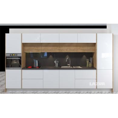 кухня по индивидуален проект Ламина и Пастел гланц