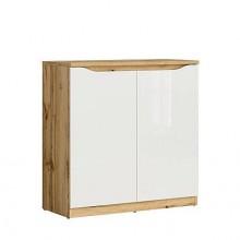 шкаф Нуис с 2 врати в бял гланц