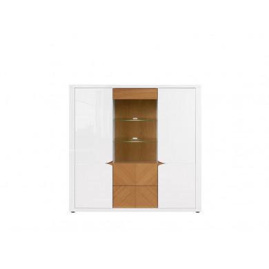 Шкаф Ровика с 2 врати, 1 витрина и 1 чекмедже