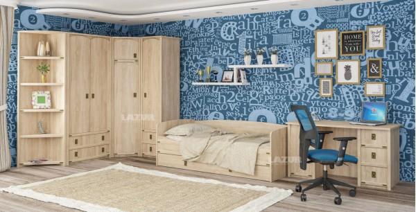 Двукрилен гардероб Валенсия с чекмеджета
