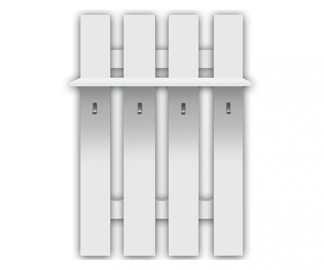 стенна закачалка четворка Топ микс в бяло