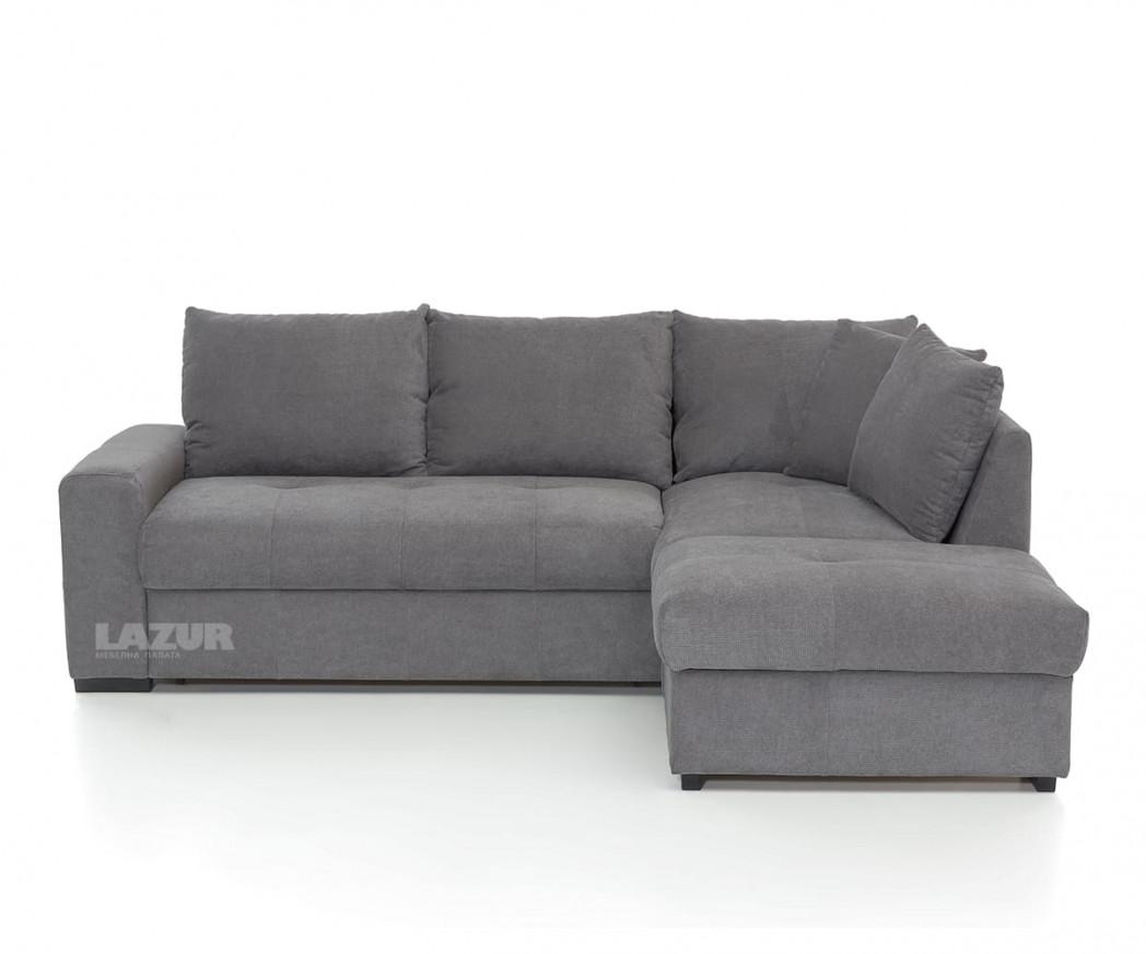 ъглов диван Рома с функция сън и ракла