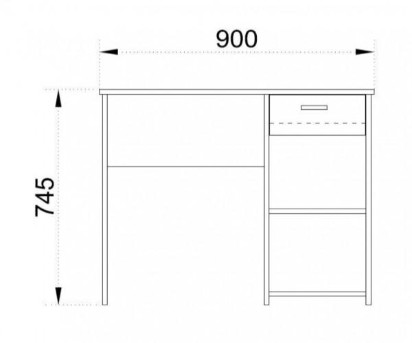 бюро Адорно 3 в цветове венге бял и сонома