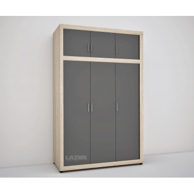 гардероб Руми с функционално разпределение сонома графит