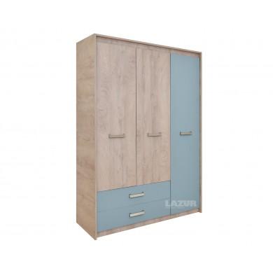 трикрилен гардероб с чекмеджета Киндер