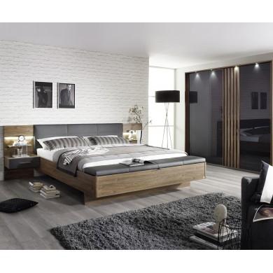 легло Мосбах с лед осветление за матрак 180/200 см