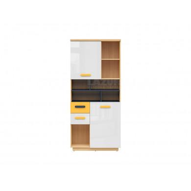 Висок шкаф Вескер с 2 врати и 2 чекмеджета