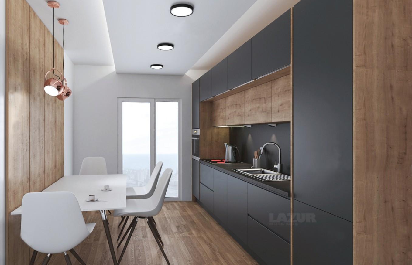 кухня по индивидуален проект серия Пастел мат и Ламина